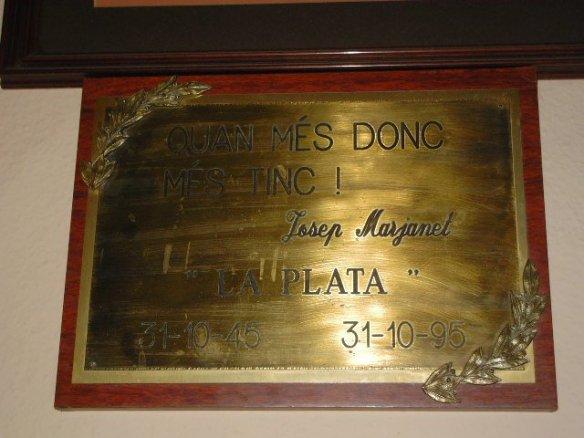 El Lema de Pepito Marjanet, fundador de La Plata