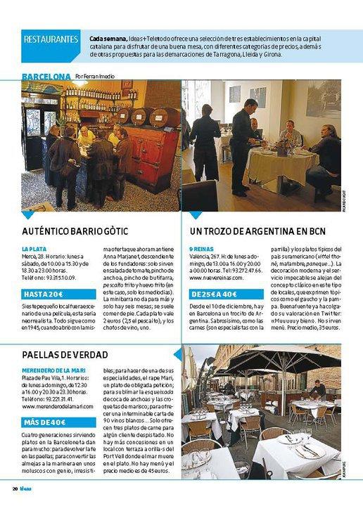 Bar La Plata en el suplemento 'Ideas' de El Periódico de Catalunya