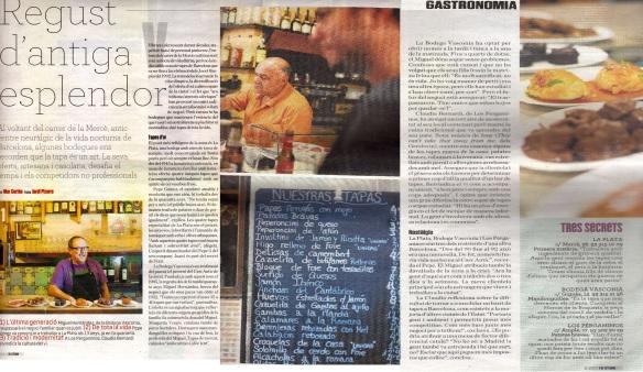 Reportatge de Mar Cortès sobre les tapes, l'atmòsfera i la història del Bar La Plata al diari Ara