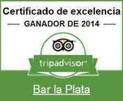 La Plata, tapas, barcelona, restaurant, bar, Certificado de Excelencia 2014 de Tripadvisor