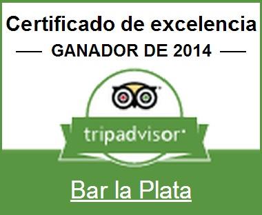 Certificado de Excelencia de La Plata en Tripadvisor