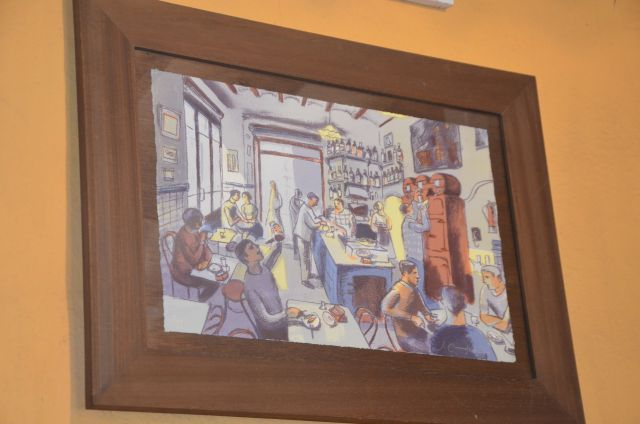 La Plata, barcelona, restaurant, bar, rey de las tapas, food, tavern, arte, painting, watercolor