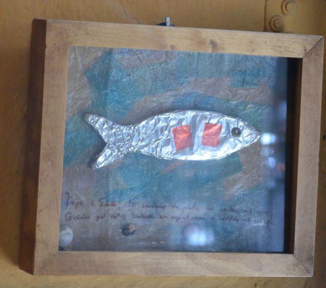 La Plata, barcelona, restaurant, bar, rey de las tapas, food, tavern, arte, painting, sardina, sardine