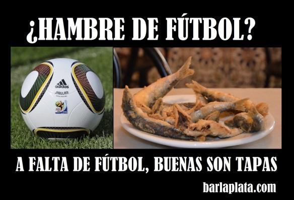 A falta de fútbol, buenas son tapas, barcelona, hambre de fútbol, pescadito, fish