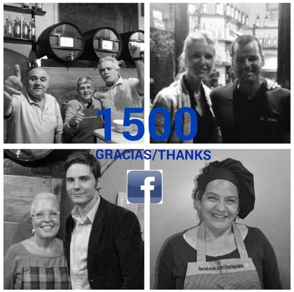 Gracias a los 1500 fans del bar La Plata en Facebook.