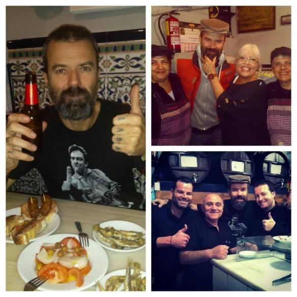 Pau Donés, el alma de Jarabe de Palo, en el bar La Plata.