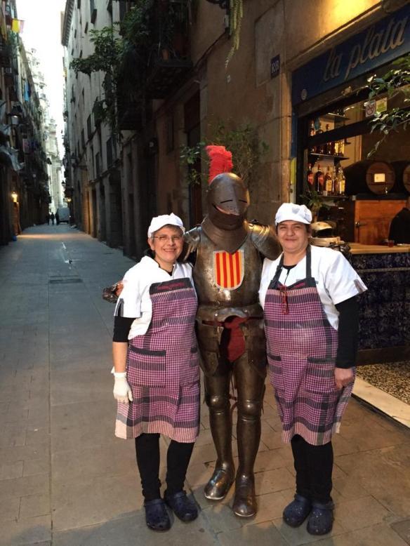 Sant Jordi y las dos rosas del bar La Plata.