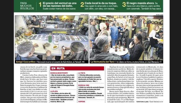 El bar La Plata en el reportaje de El Periódico sobre el resurgir del vermut en Barcelona.