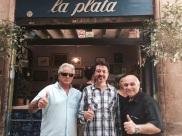 Manolo García, en el bar La Plata.