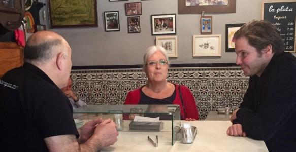 daniel bruhl en el bar la plata