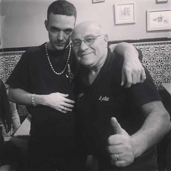 C. Tangana, con Pepe, el alma de La Plata.